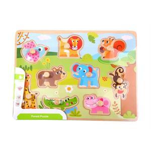 Tooky Toy Ahşap Vahşi Hayvanlar Puzzle