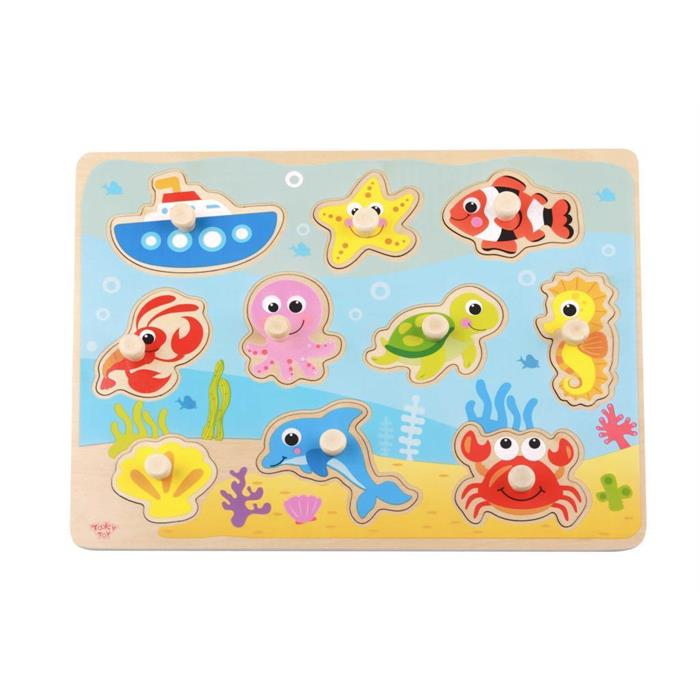 Tooky Toy Ahşap Deniz Hayvanları Puzzle