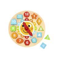 Tooky Toy Ahşap Şekilli Saat Puzzle