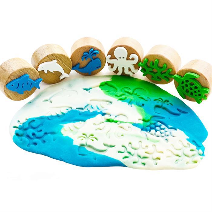 ChildGen Deniz Canlıları Ahşap Damga Seti