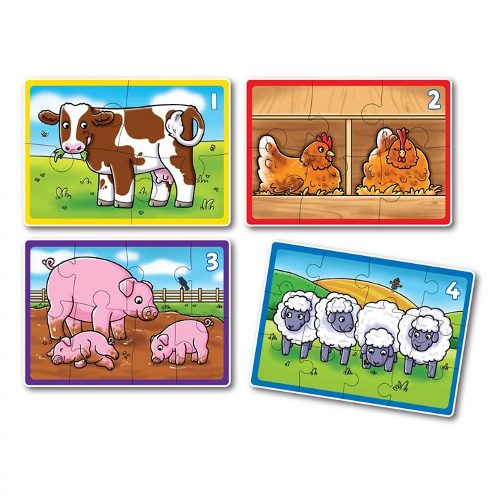 Orchard Çiftlik 4 Puzzle Bir Arada (Farm Four In A Box)