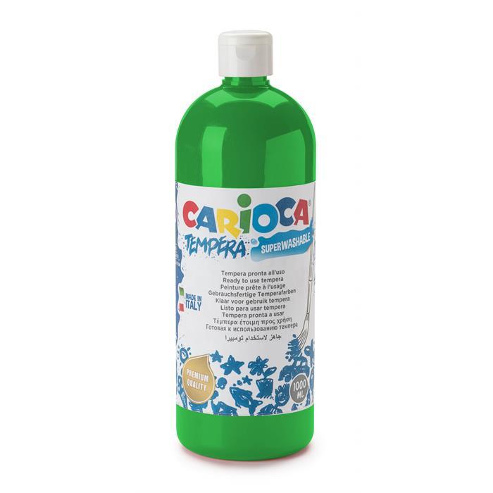 Carioca Tempera Boya - Yeşil (Süper Yıkanabilir) 1000ml - 1350gr / Plastik Şişede
