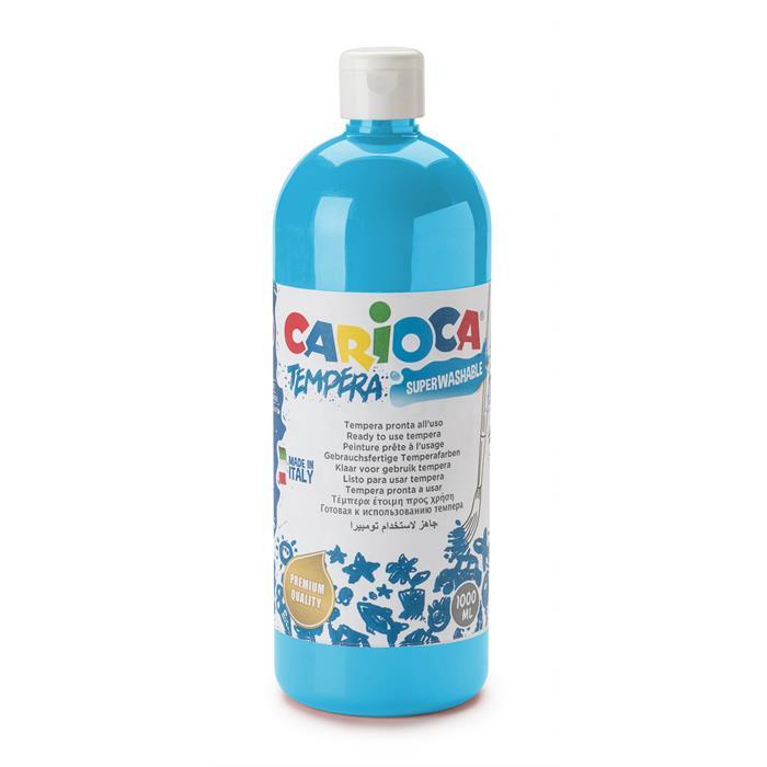 Carioca Tempera Boya - Açık Mavi (Süper Yıkanabilir) 1000ml - 1350gr / Plastik Şişede