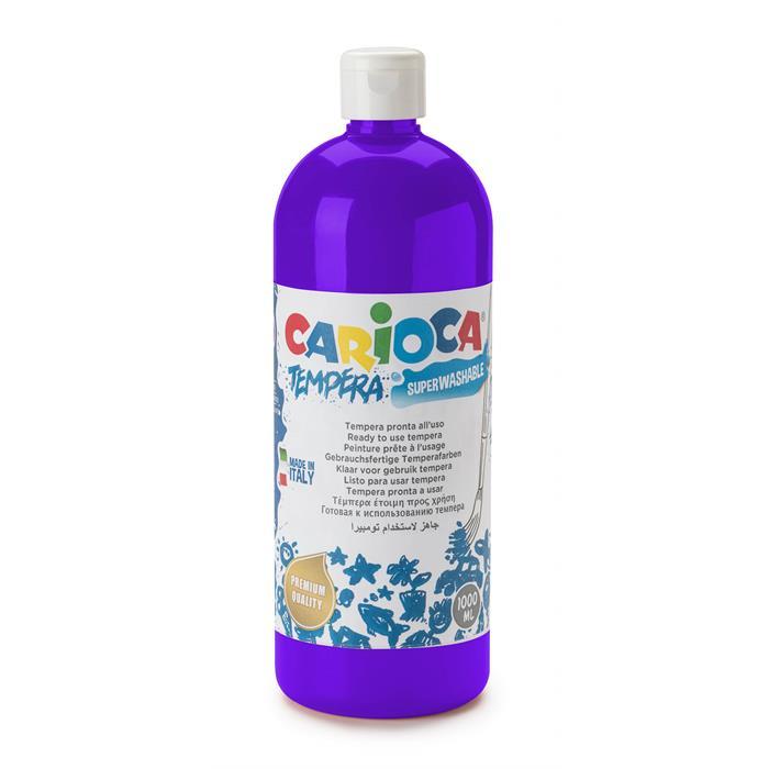 Carioca Tempera Boya - Mor (Süper Yıkanabilir) 1000ml - 1350gr / Plastik Şişede