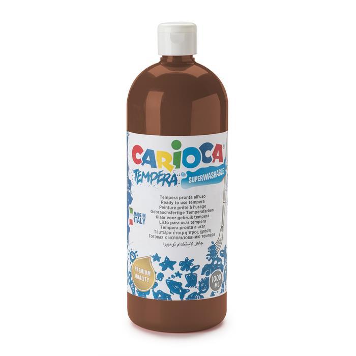 Carioca Tempera Boya - Kahve Rengi (Süper Yıkanabilir) 1000ml - 1350gr / Plastik Şişede